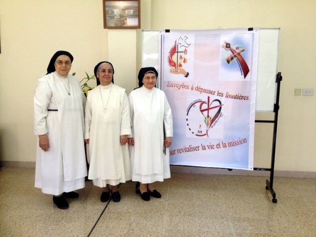 From left to right: Srs. Suzanne, Bernadette and Marianne Pierre